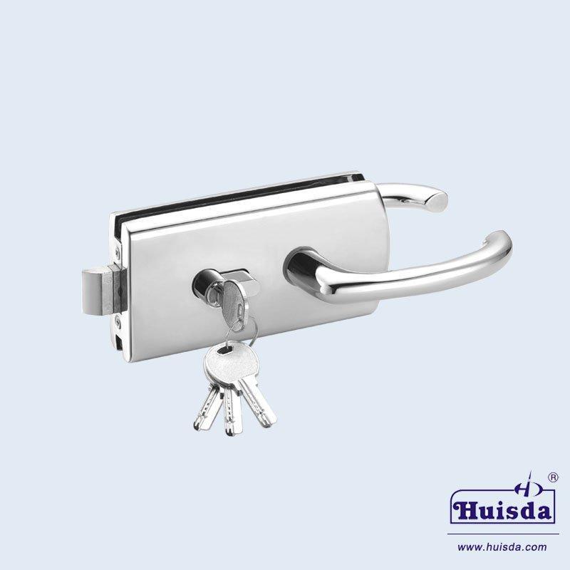 HSD 592A 带活动执手玻璃门锁